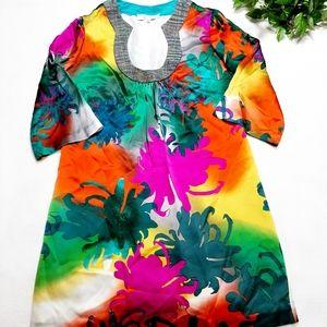 Miss T By Trina Turk Silk Floral Print Dre…